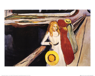 Girl on the Bridge by Edvard Munch, I do not own any rights.