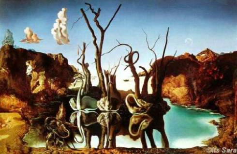 Swans Reflecting Elephants by Salvador Dali, I do not own any rights to this artwork.